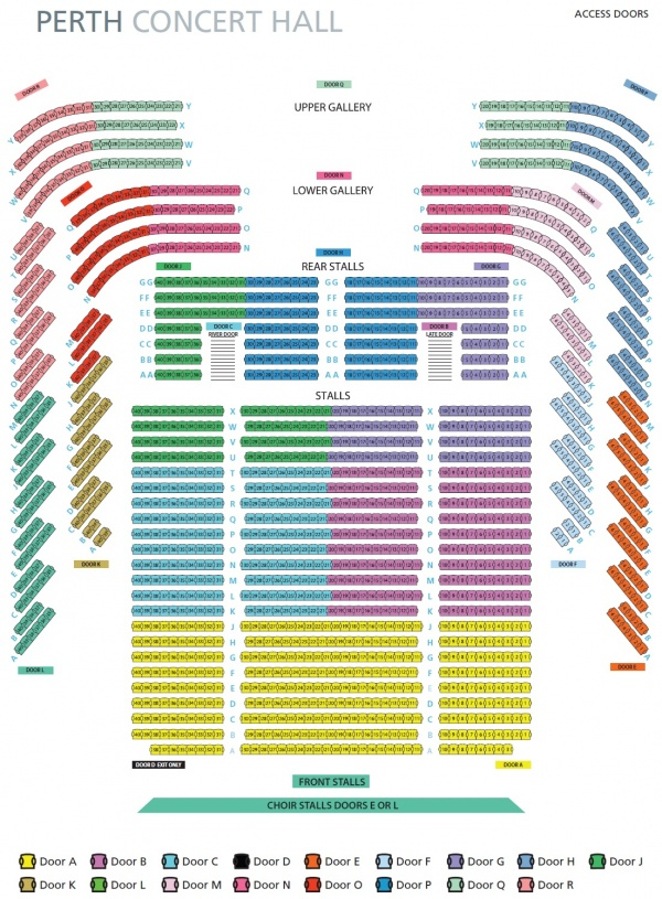 Seating Plan 187 Perth Concert Hall